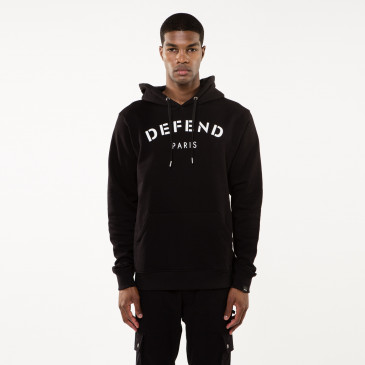 Sweatshirt DEFEND HOOD BLACK
