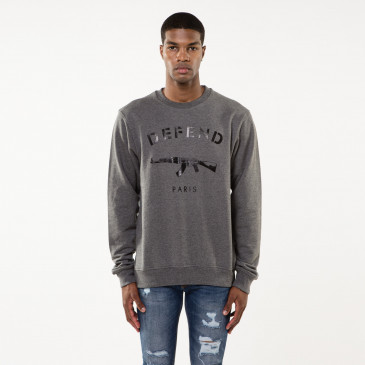 Sweat PARIS CREW GRIS