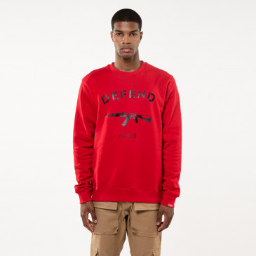 Sweat PARIS CREW ROUGE
