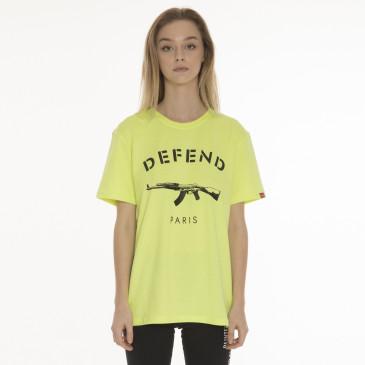T-shirt PARIS TEE NEON JAUNE