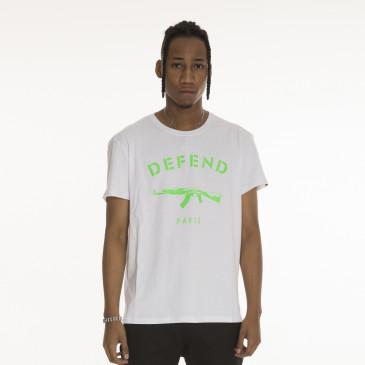 T-shirt PARIS TEE NEON BLANC
