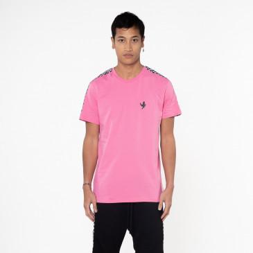 T-shirt TEE DAMIER ROSE
