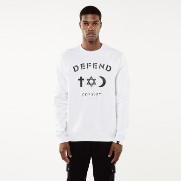 Sweatshirt CO CREW WHITE