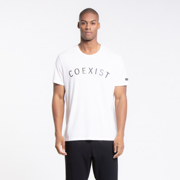 ICONIC T-SHIRT EASY COEXIST OFF-WHITE