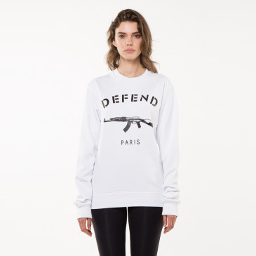 Sweatshirt PARIS CREW WHITE