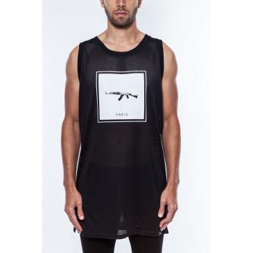 Camiseta de tirantes PARIS DEB MINIMAL NEGRA