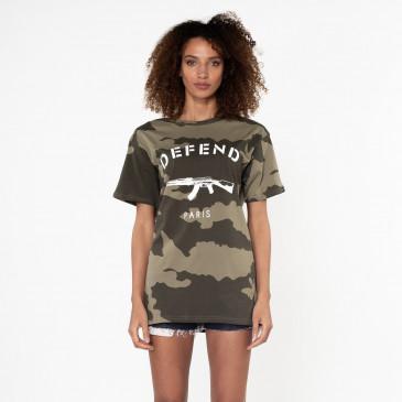 T-shirt PARIS TEE CAMO KAKI