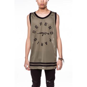 T-shirt STRIP DEB KAKI