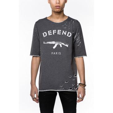 T-shirt PARIS JACQUES GRIGIA