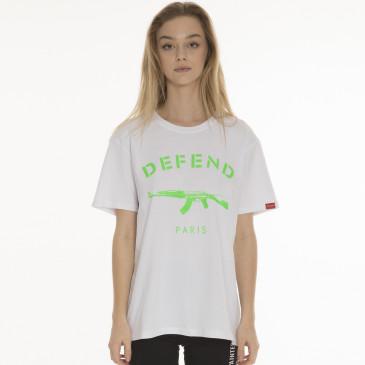 T-shirt PARIS TEE NEON BIANCA