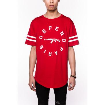 T-shirt STRIP TEE ROSSA