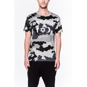 T-shirt CO TEE CAMOU SCHWARZ