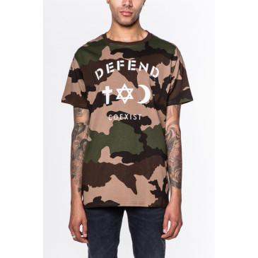T-shirt CO TEE CAMOU BRAUN