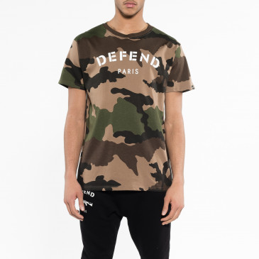 T-shirt DEFEND TEE CAMOU BRAUN