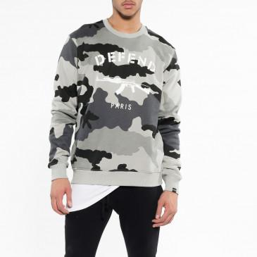 Sweatshirt PARIS CREW CAMOU SCHWARZ