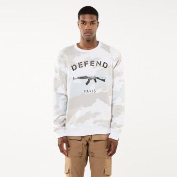Sweatshirt PARIS CREW CAMOU WEISS