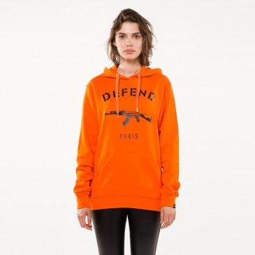 Sweatshirt PARIS HOOD ORANGE