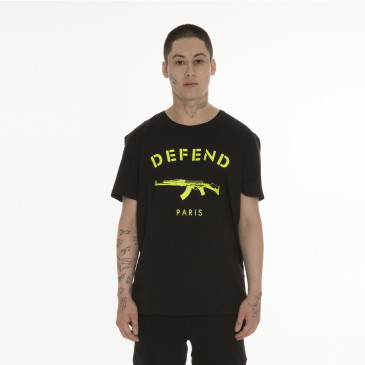 T-shirt PARIS TEE NEON SCHWARZ