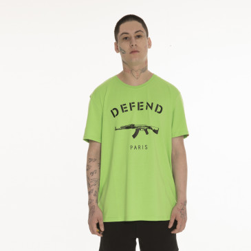 T-shirt PARIS TEE NEON GRÜN