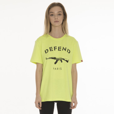 T-shirt PARIS TEE NEON GELB