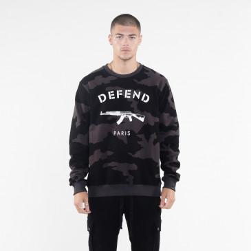 Sweatshirt PARIS CREW SCHWARZ
