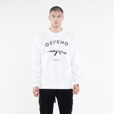Sweatshirt PARIS CREW WEISS