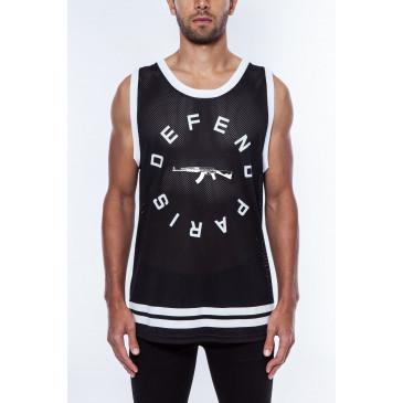 T-shirt STRIP DEB SCHWARZ