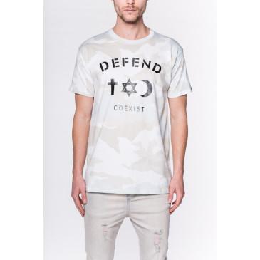 T-shirt CO TEE CAMOU WHITE
