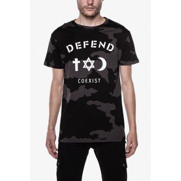 T-shirt CO TEE CAMOU BLACK