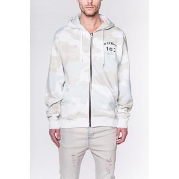Sweatshirt CO ZIP CAMOU WHITE