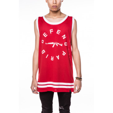 T-shirt STRIP DEB RED
