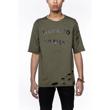 T-shirt PARIS JACQUES KAKI
