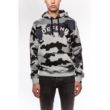 Sweatshirt DEFEND HOOD BLACK