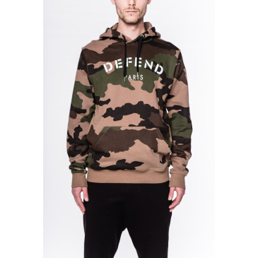 Sweatshirt DEFEND HOOD TAN