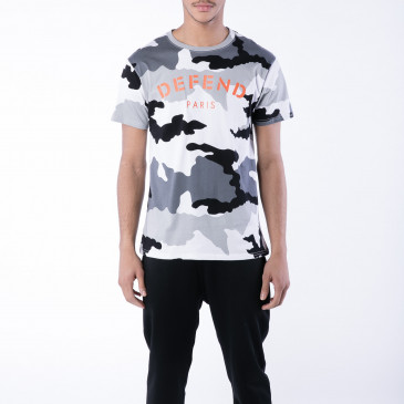 T-shirt DEFEND TEE CAMOU BLACK