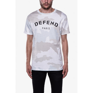 T-shirt DEFEND TEE CAMOU WHITE