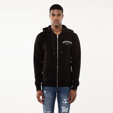 Sweatshirt DEFEND ZIP BLACK