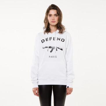 Sweatshirt PARIS HOOD WHITE