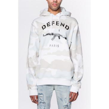 Sweatshirt PARIS HOOD CAMOU WHITE