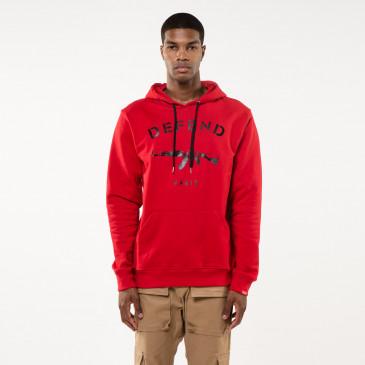 Sweatshirt PARIS HOOD RED