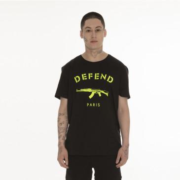 T-shirt PARIS TEE NEON BLACK