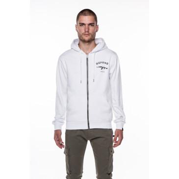 Sweatshirt PARIS ZIP WHITE