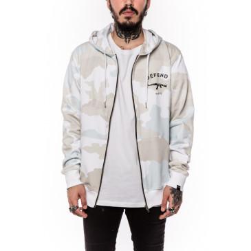 Sweatshirt PARIS ZIP CAMOU WHITE