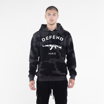 Sweatshirt PARIS HOOD CAMOU BLACK