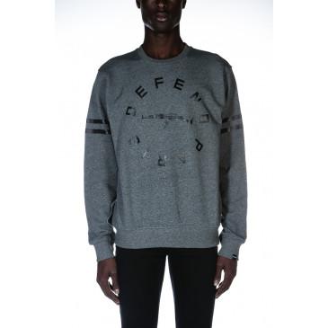 Sweatshirt STRIP CREW GREY