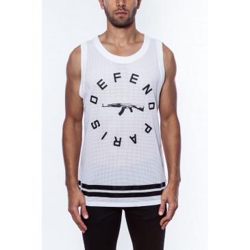 T-shirt STRIP DEB WHITE