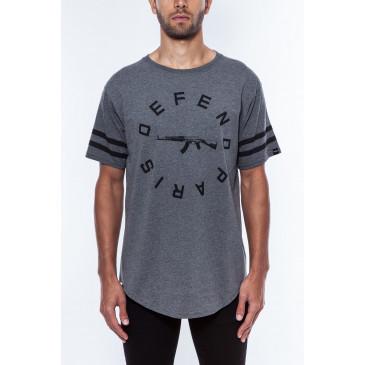T-shirt STRIP TEE GREY