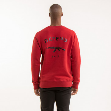 ICONIC SWEATSHIRT PARIS DARK BLOOD